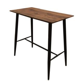 Table haute industrielle Katia - L. 115 x H. 102 cm - Noir