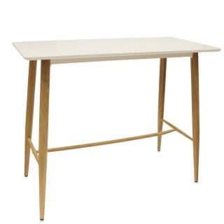 Table haute scandinave Katia - L. 115 x H. 102 cm - Blanc