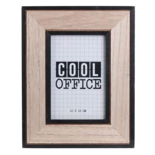 Cadre photo indus cool Happy Working - Noir et beige