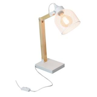 Lampe de bureau industrielle Indus - H. 38 cm - Blanc