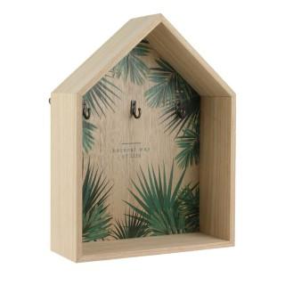 Boîte à clés design Jungle - L. 21 x H. 28 cm - Vert
