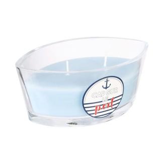 Bougie parfumée Bord de mer Marin - Bleu clair