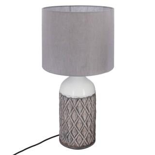 Lampe à poser ethnique Terra - H. 57 cm - Gris