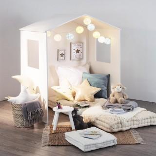 Cabane maison d'intérieur enfant Douceur - L. 117 x H. 140 cm - Blanc