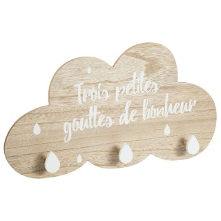 Patère enfant nuage Douceur - Blanc
