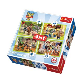 4 Puzzles Toys Story - + 4 ans - 35/48/54/70 pièces