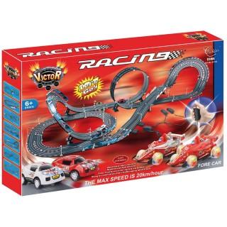 Jouet Circuit de course avec looping Atomic