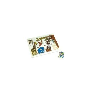Puzzle éveil en bois Zoo - 10 pièces