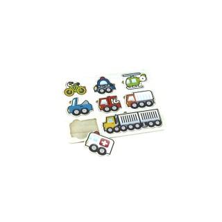 Puzzle éveil en bois Voiture - 8 pièces