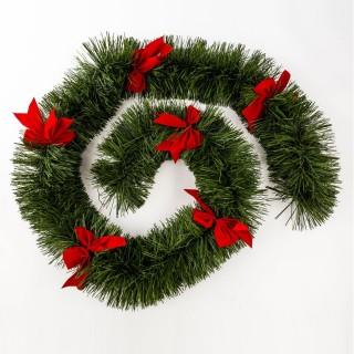 Guirlande de Noël effet branche de sapin - Vert