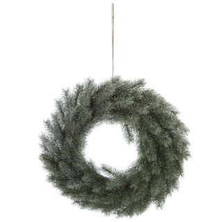 Couronne de Noël enneigée Comptoir de Noël - Diam. 40 cm - Vert