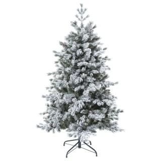 Sapin de Noël artificiel enneigé Yukon - H. 180 cm - Vert