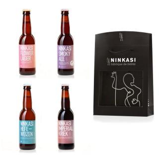 4 x 33cl - Coffret cadeau Ninkasi Signature n°2 : Imperial Kriek, Hefeweizen, Smoky Ale et Flower Lager