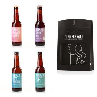 4 x 33cl - Coffret cadeau Ninkasi Signature n°1 :  Brut IPA, Hefeweizen, Smoky Ale et Flower Lager