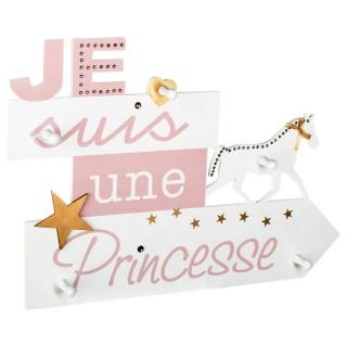 Patère enfant Princesse Douceur - Rose