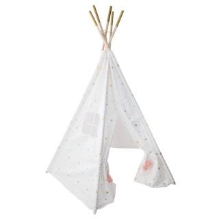 Tipi pour enfant avec motifs Dream - H. 160 cm - Blanc