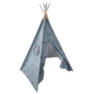 Tipi pour enfant avec motifs Dream - H. 160 cm - Bleu