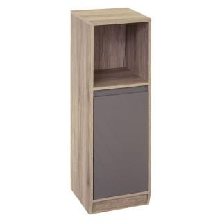 Meuble étagère de salle de bain design Elda - L. 30 x H. 88 cm - Gris