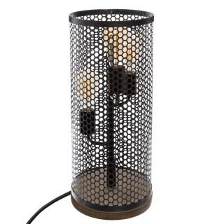 Lampe à poser design ajouré Tower - H. 46 cm - Noir