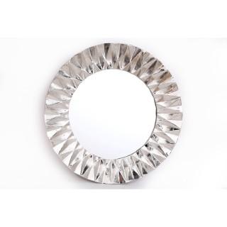 Miroir en métal design Flora - Diam. 60 cm - Argent