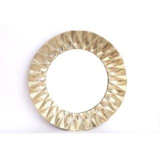 Miroir en métal design Flora - Diam. 60 cm - Doré