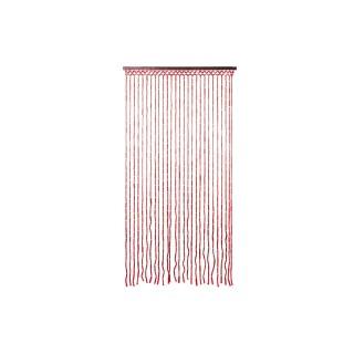 Rideau de porte en bambou Design - L. 90 x l. 180 cm -  Rouge