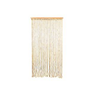 Rideau de porte en bambou Design - L. 90 x l. 180 cm -  Jaune
