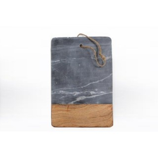 Planche à découper bois et marbre Marble - L. 36 x l. 20 cm - Gris
