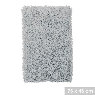 Tapis de salle de bain moelleux Bolbo - L. 75 x l. 45 cm - Gris