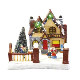 Village de Noël lumineux - Maison