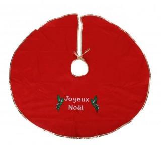 Tapis rond pour sapin de Noël Cosychristmas - Rouge