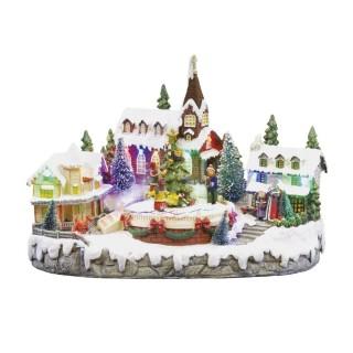 Village de Noël lumineux - Choristes animés