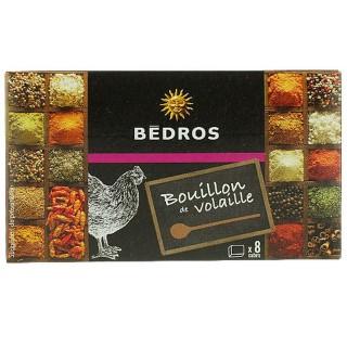 Bouillon de volaille - Bedros - 8 cubes - paquet 80g