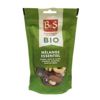 Mélange essentiel Bio raisins, noix de cajou, amandes, noisette - B&S - sachet 125g