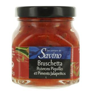 Bruschetta poivrons piquillo  - Les Saveurs de Savino - pot 140g