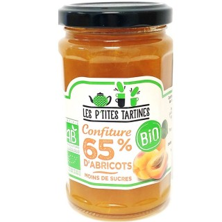 Confiture abricot  65% Bio - Les P'tites Tartines - pot 255g