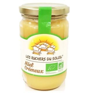 Miel de fleurs crémeux Bio crémeux - Les Ruchers du Soleil - pot 375g