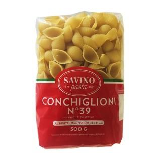 Pâtes Conchiglioni n°39  - Savino Pasta - paquet 500g