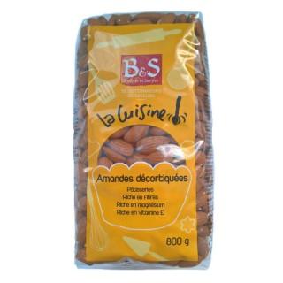 Amandes décortiquées - B&S - paquet 800g