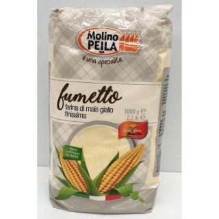 Farine de maïs très fine SANS GLUTEN - Italie - Molino Peila - paquet 1kg