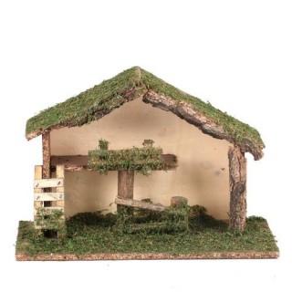 Crèche de Noël traditionnelle vide - Etable