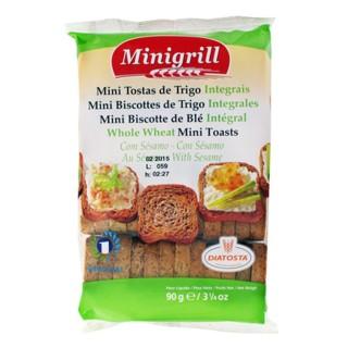 Mini biscottes au blé intégrale - Minigrill - sachet 90g