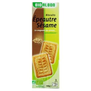 Biscuits épeautre sésame BIO  - Bioalbon - paquet 150g