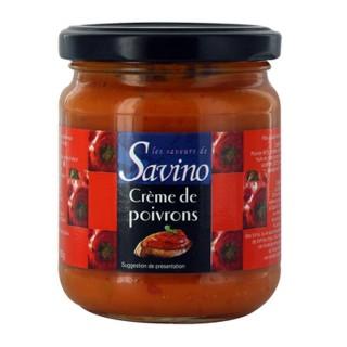 Crème de poivron recette du SUD - Les Saveurs de Savino - pot 180g