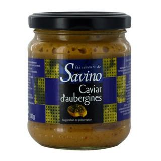 Caviar d'aubergines - Les Saveurs de Savino - pot 180g