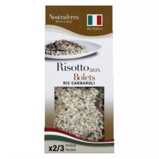 Risotto aux bolets - Riz carnaroli - Nostraterra - boîte 250g