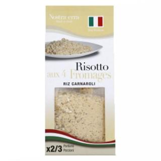Risotto aux 4 fromages - Riz carnaroli - Nostraterra - boîte 250g