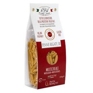 Pâtes Penne rigate 30 Multicéréales SANS GLUTEN -  1881 Pasta Berruto - paquet 250g