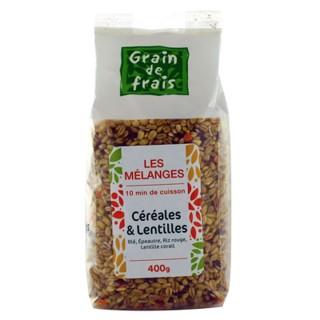 Mélange céréales et lentilles - Grain de Frais - paquet 400g