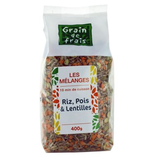 Mélange riz, pois et lentilles - Grain de Frais - paquet 400g